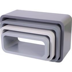 Storage units oval 4 pcs Sebra