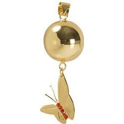 Mom2Mom Gold Butterfly Harmony Ball by Sommerfeld Maternity jewelery