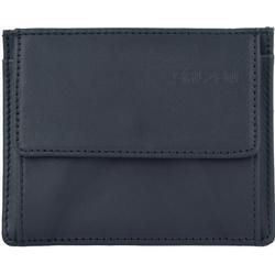 Salzen Card & Coin Wallet Kreditkartenetui Leder 10,5 cm total black