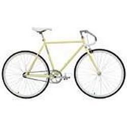 Critical Cycles Uni Classic Fixed/Gear Single/Speed Urban Road with Pista Drop Bars Bike, Cremefarben, 43 cm/X/Small