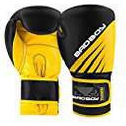 Bad Boy Erwachsene Training Series Impact Boxhandschuhe, Schwarz/Gelb, 14oz