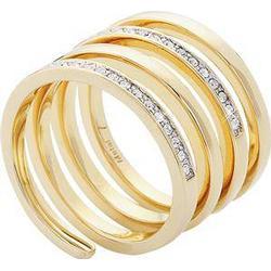 Gab & Ty by Jana Ina Accessoires Ringe  Gewickelter Ring gelbgold plattiert Gr.17 1 Stk.