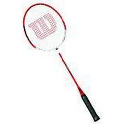 Wilson Badminton/Schläger, Damen/Herren, Steif, Kopflastig, Power Balance, Champ, WRT8721304, Größe 4, Rot/Weiß