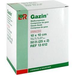 GAZIN Mullkomp.10x10 cm steril 8fach 25X2 St