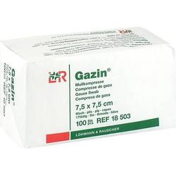 GAZIN Mullkomp.7,5x7,5 cm unsteril 8fach Op 100 St