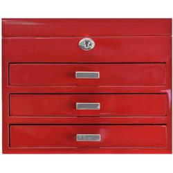 Windrose High Gloss Charmbox Schmuckkoffer L 30 cm rot