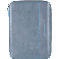 Piquadro Blue Square iPad mini Hülle Leder 22,5 cm grey