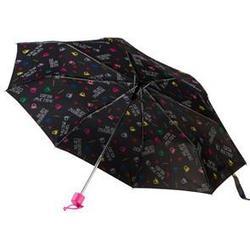 United Colors of Benetton Logo Print Umbrella Black Short umbrellas