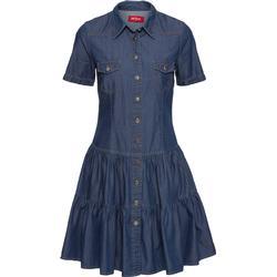 Kurzärmliges Jeanskleid mit Knöpfen/Sommerkleid kurzer Arm  in blau von bonprix