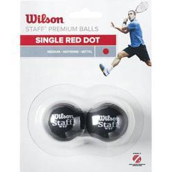 Squashb�lle Wilson Staff Medium Single Red Dot