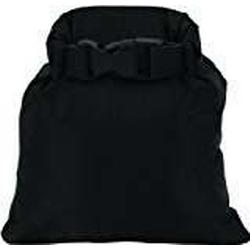 Wasserdichter und wetterfester Drysack Packsack wetterfeste 190t Nylonbeschichtung (Schwarz, 1 L)