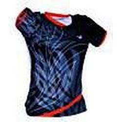 VICTOR Damen Bekleidung Shirt Korea Open Women's 6633, schwarz/orange, XL, 663/0/8