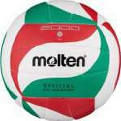 molten Volleyball V5M2000 (weiß/grün/rot) - 5