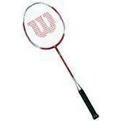 Wilson Badminton/Schläger, Damen/Herren, Mittel flexibel, Kopflastig, Attacker, WRT8719304, Größe: 4, Rot/Silber