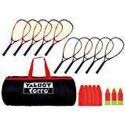 Talbot Torro Speed Badminton Set im Sportsbag Schulset für 10 Spieler, 490100
