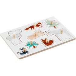 Kids Concept Holzpuzzle Edvin, Weiss