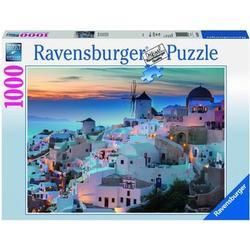 Puzzle Abend über Santorini