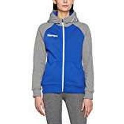 Kempa Damen Fly High Hood Jacket Women Jacke, Royal/Grau Melange, XXL