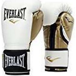 Everlast Erwachsene Powerlock Training Gloves PU Boxartikel, White/Gold, 16 OZ