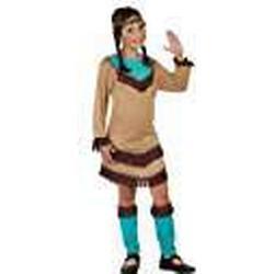 Atosa 23788 / Indianerin Mädchen Kostüm, Größe 116, braun