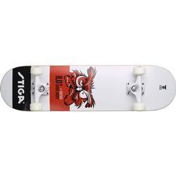 STIGA Skateboard Eule 8.0, Weiß/Schwarz/Rot