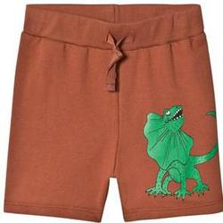 Mini Rodini Draco Sweatshorts Brown 128-134cm (8-9 years)
