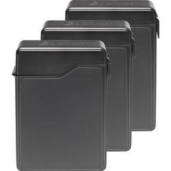 8.9cm (3.5 Zoll) Festplatten-Aufbewahrungsbox 3er Set CC-35HDC