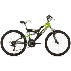 KS Cycling Kinderfahrrad MTB Fully 24 Zodiac grün-schwarz RH 38 cm KS Cycling