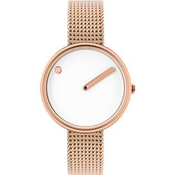 PICTO 30 mm White/Polished rose gold