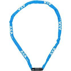 Axa Kettenschloss Rigid mit Zahlenschloss 120 cm, Blau