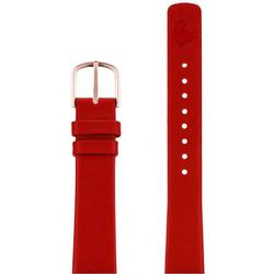 Red leather strap 16 mm