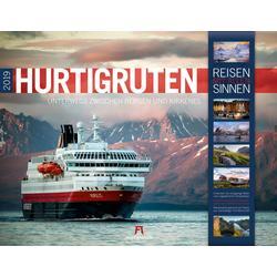 Hurtigruten Kalender 2019 - Reisen mit allen Sinnen - 42 x 54 cm - Ackermann