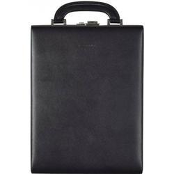 Windrose Ambiance Uhrenbox 23 cm Leder schwarz