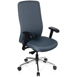 * Schwerlaststuhl / Bürostuhl HEAVY CHAIR Stoff Vollausstattung schiefer hjh OFFICE