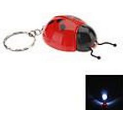 Siebenpunkt Shaped LED-Taschenlampe Schlüsselbund (zufällige Farben)