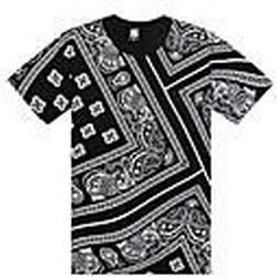 Herren Hip Hop Bandana Print-T-Shirts