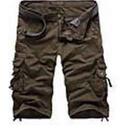 Herren Trendy schräg Taschen Gerade Shorts (ohne Gürtel)