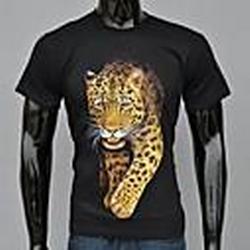 Herrenmode Black Leopard Mond Bedruckte T-Shirt