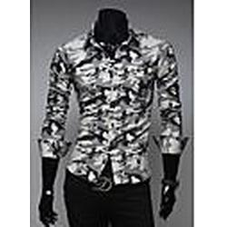 Herrenmode Camouflage Design Shirt