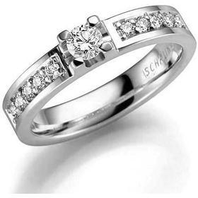 Schalins Norrsken Solvind - White Gold Ring w. Diamonds