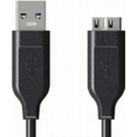 Muvit 1.8m USB 3.0 - micro USB, 3.0 (3.1 Gen 1), USB A, Micro-USB B, Han/han, Sort