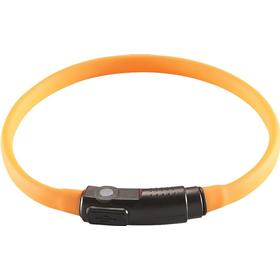 Hunter Yukon LED ljusring av silikon, orange - 18 - 34 cm halsomfång