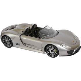 Silver PORSCHE 918 SPYDER, scala 1:14, fjernstyret bil