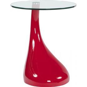 Kokoon Design Foot - Rødt fiberglas med glas top