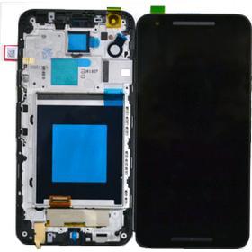 LG Nexus 5X Skärm med LCD-display, Svart