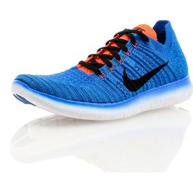 Nike Free Run Flyknit Blue/Orange
