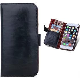 BRG Exklusiv läderfodral/plånbok för iPhone 6/6S - svart