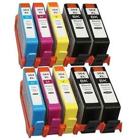 HP 364 XL Bundle 10 pcs. (4 Svart 24 ml och 2 Cyan / Magenta / gul 15ml) SM596EE