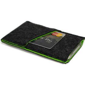Smart KoksGrå filt Cover Håndsyet Grønt bomulds inlay