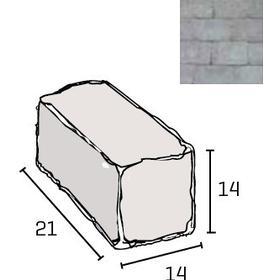 IBF Holmegaardsten kantblok 14 x 21 x 14 cm i grå